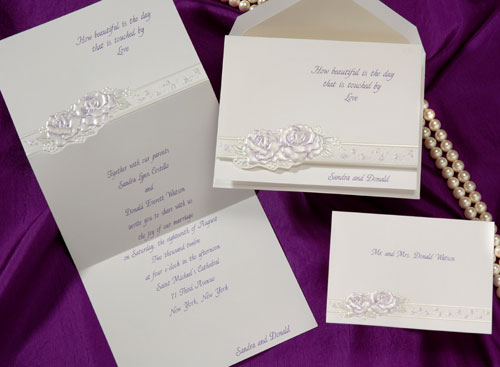 Beautiful elegant wedding invitations for Wedding invitations 50 cents each