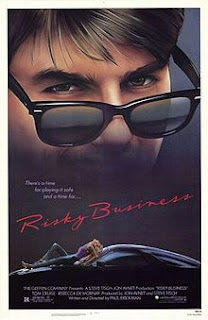 Risky Business Movie Poster with Tom Cruise