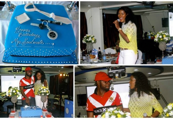 Stephenie Okereke Idahosa Throws Birthday Splash For Hubby in a Boat (pictures) chiomaandy.com