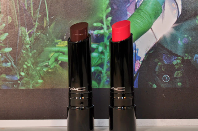 MAC Sheen Supreme Lipsticks in Venomous Violet and Pheromonal