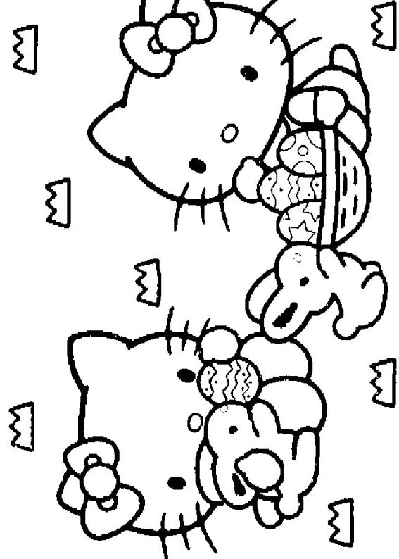 Desenhos Para Colori Hello Kitty Pets desenhar