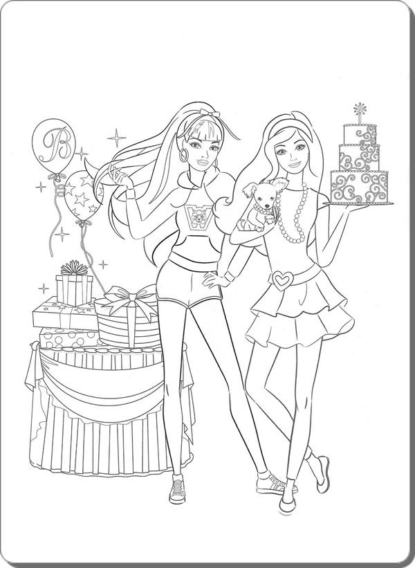 Ausmalbilder Zum Ausdrucken Ausmalbilder Barbie