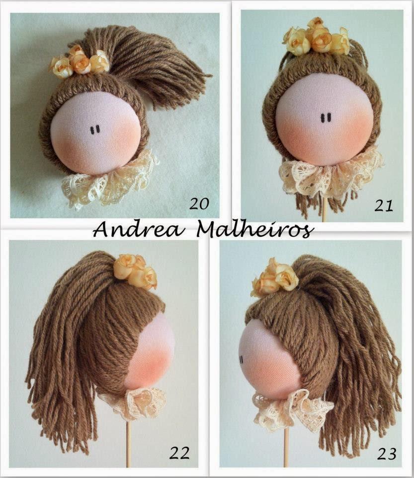 Волосы из ниток для куклы мастер классы
