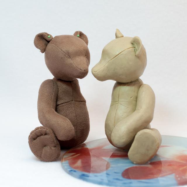 Оля Гончарова - выкройка мишки по пластилиновому макету