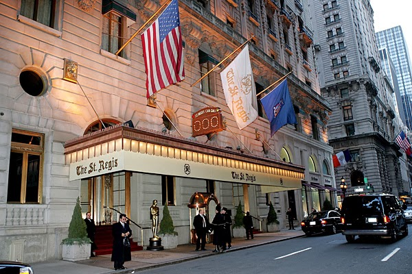 Luxury hotels st regis hotel new york city for Nyc most expensive hotel