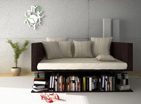 Belle canap avec biblioth que par younes d cor de - Belle decoration de maison ...