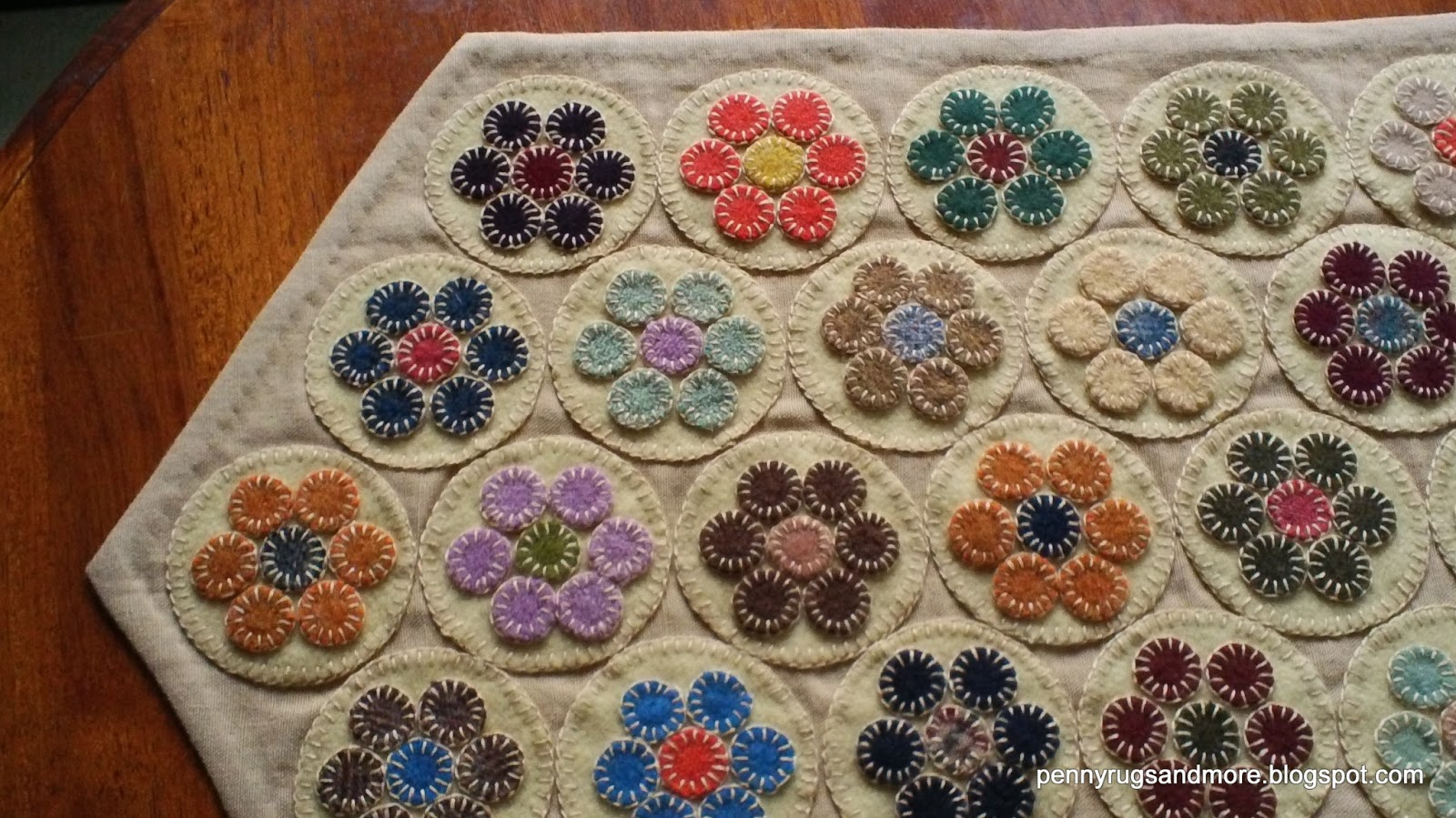 penny rugs and more penny rug tutorial part 5