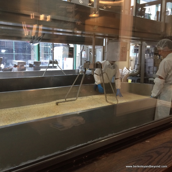 cheesemaking at Beecher's Handmade Cheese in NYC