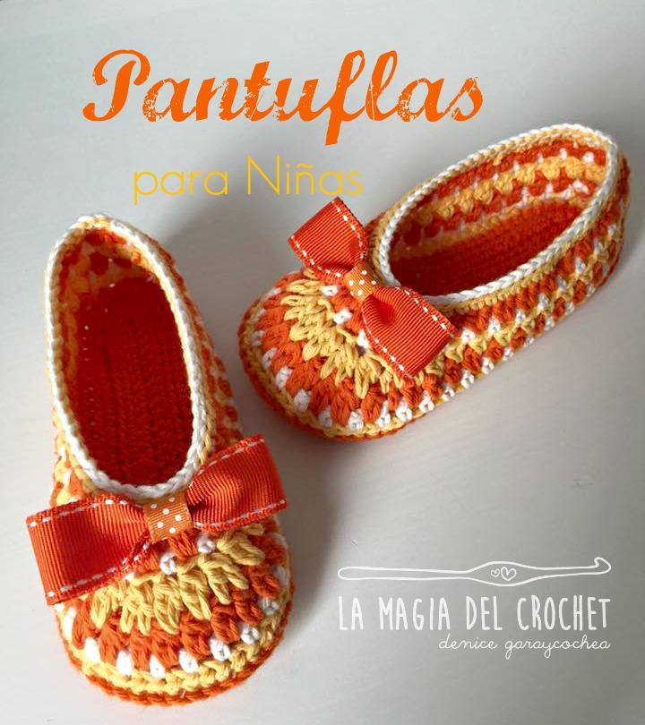 La Magia del Crochet: Cómo hacer Pantuflas para niñas de 3 a 4 años