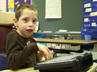 Disabled Child Using Technology
