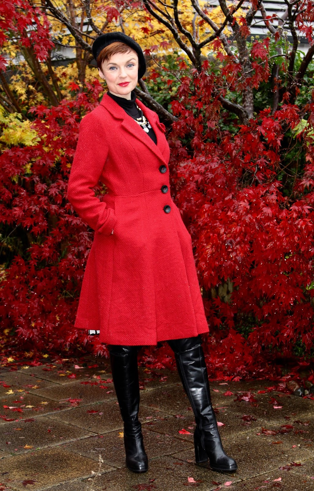 How To Wear Otk Boots Over 40 Poppy Red With A French