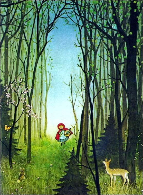 red riding hood by american born illustrator Gyo Fujikawa