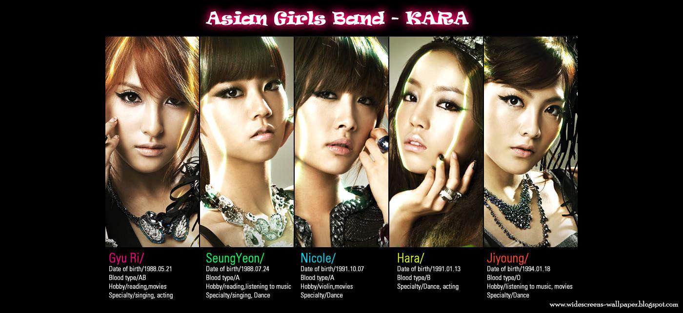 Download image Foto Kara Korean Girl Band Members Profile Wallpapers ...