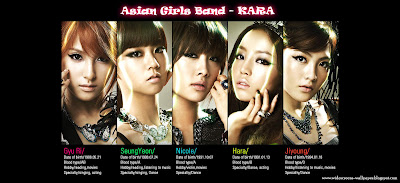 Asian Girls Band - Kara Profile Wallpapers