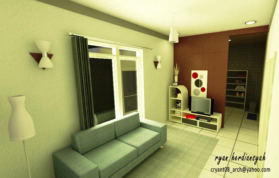 ryan08architect design interior ruang tamu dan dapur