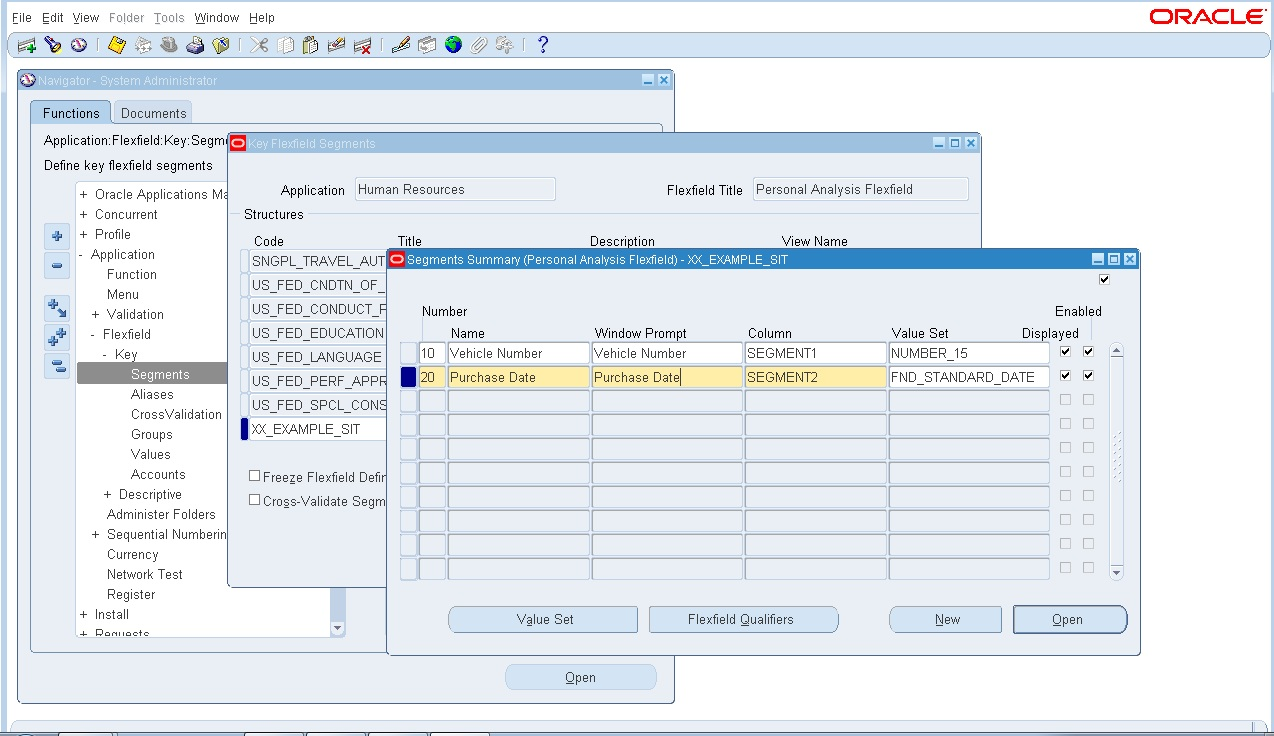 Oracle create type as record