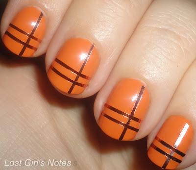 stripe manicure and nail art