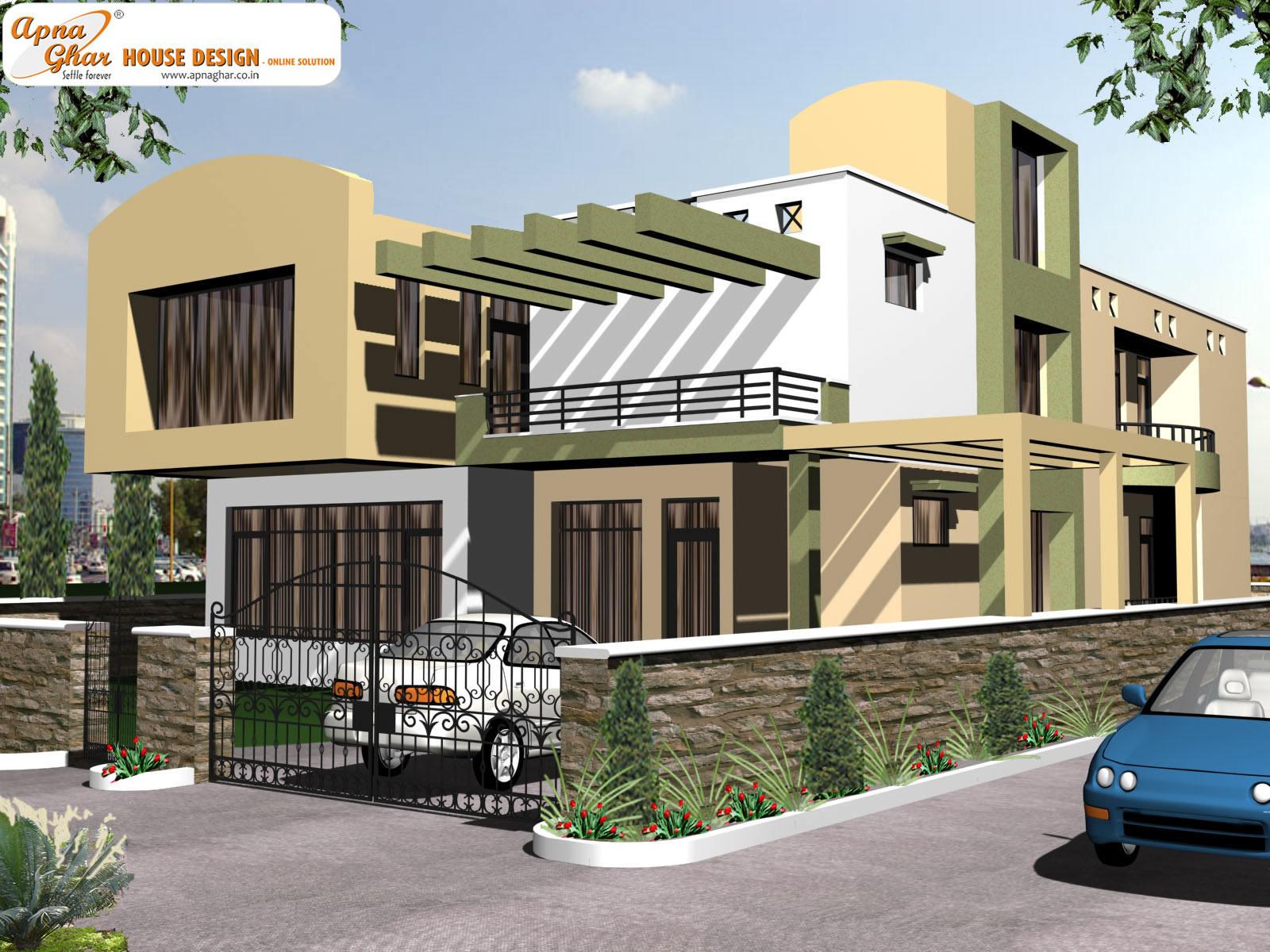 Front elevation house 2013 duplex bungalow house joy for Duplex bungalow elevation