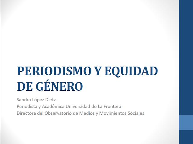 """Investigación """"Periodismo y Equidad de Género"""""""
