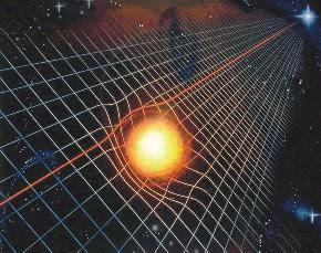 Resultado de imagen de Grandes masas curvan el espacio