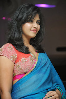Actress Anjali Latest  Pictures in Saree at Masala Audio Launch  0045.jpg
