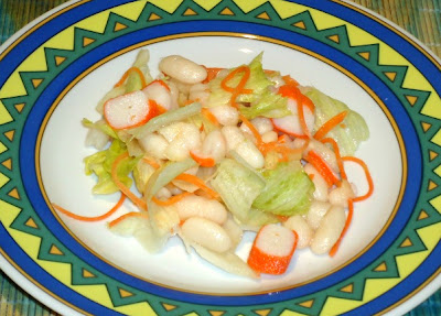 Miss cocina ensalada de jud as blancas con surimi - Ensalada fria de judias blancas ...