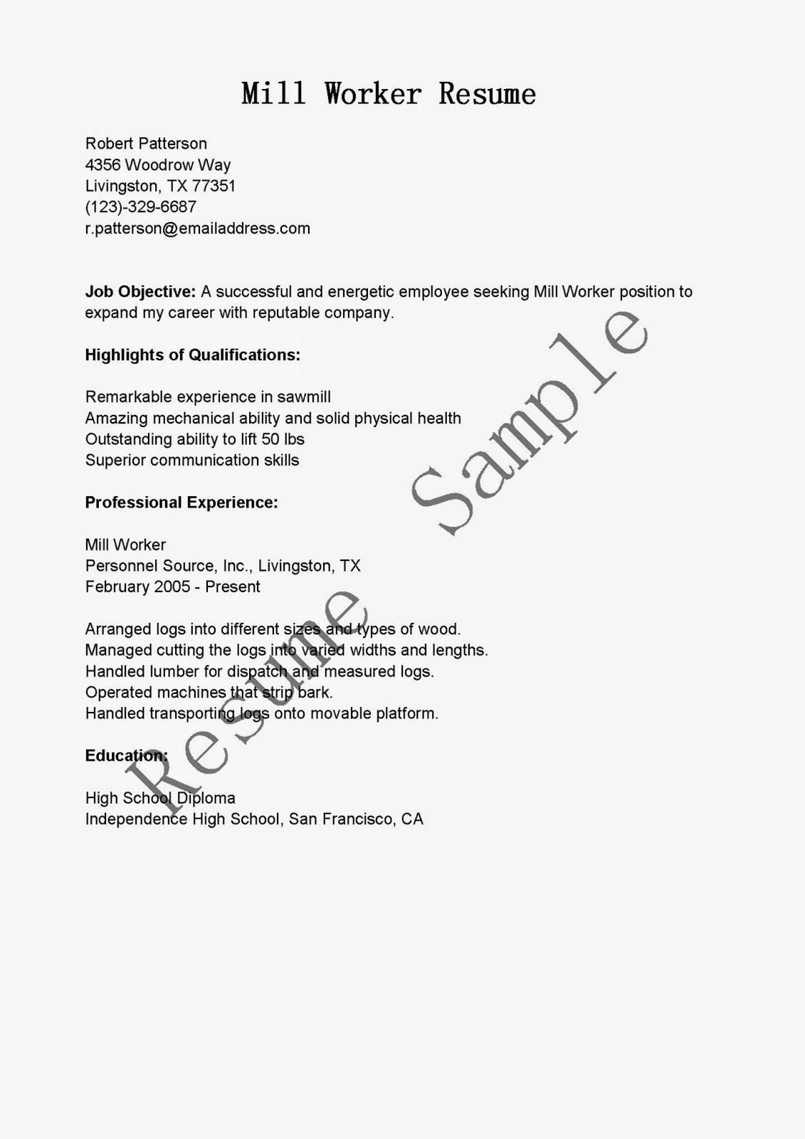 Food pantry worker resume