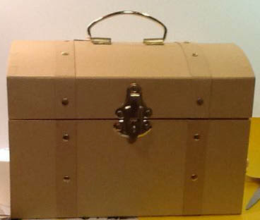 Recycled Crafts:  Modge podge treasure chest tutorial