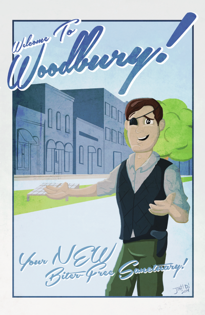An art print of The Governor from The Walking Dead titled Welcome To Woodbury