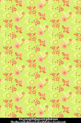 Flores rosas y verde