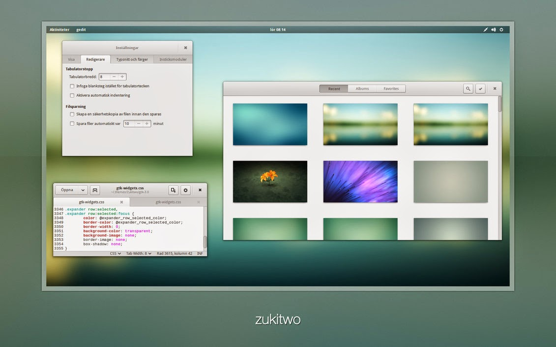 Zukitwo theme is available now for GNOME 3.12