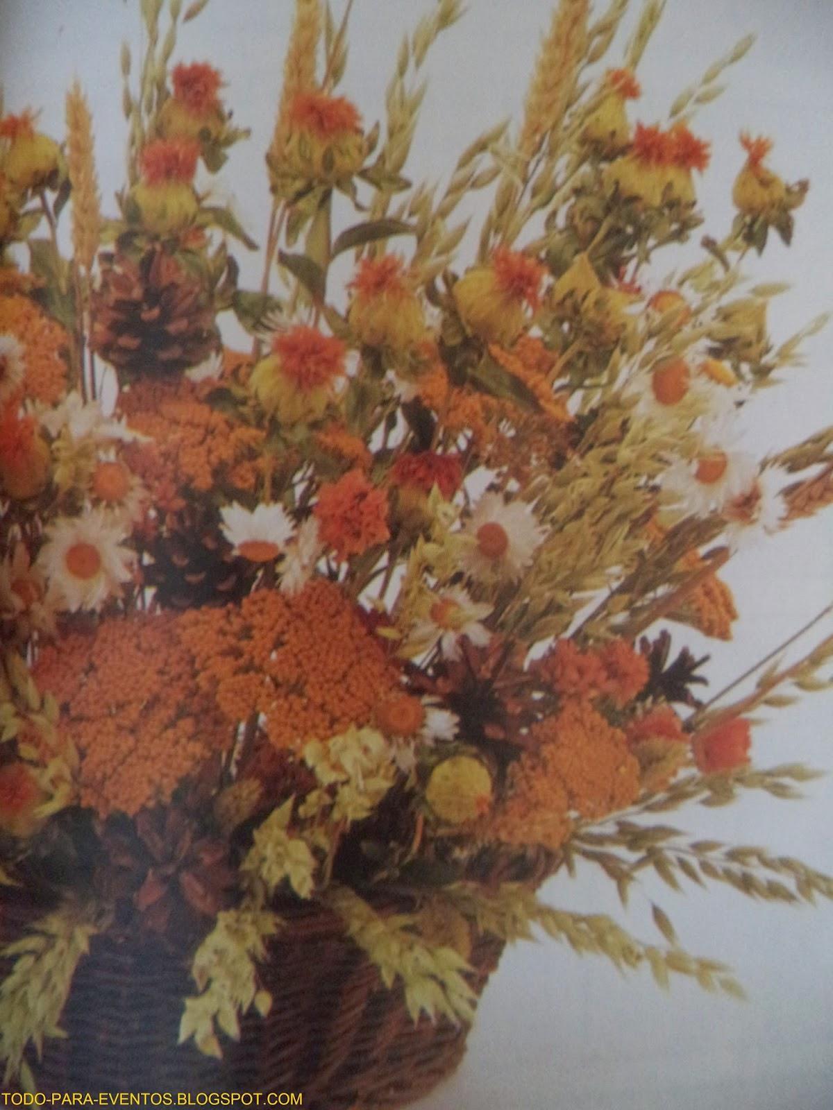 Arreglos con flores secas centro de mesa con espigas de - Arreglos florales con flores secas ...