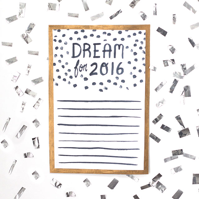 Get ready for 2016 with this downloadable print!