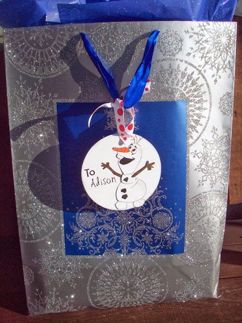 FROZEN the movie and Olaf Gift Tag Tutorial #FrozenFun #shop #cbias
