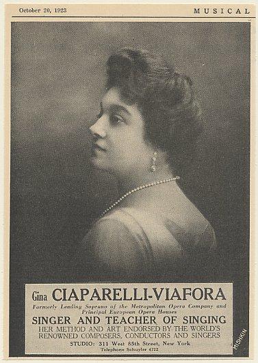 GREAT ITALIAN SOPRANO GINA CIAPARELLI-VIAFORA (1881 - 1936) CD