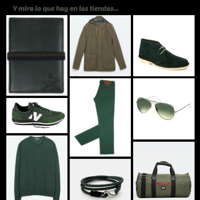 El color de moda del otoño. Verde Militar