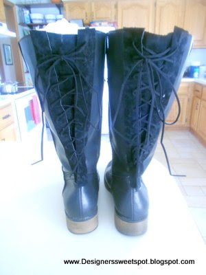 DIY Lace Up Boots after