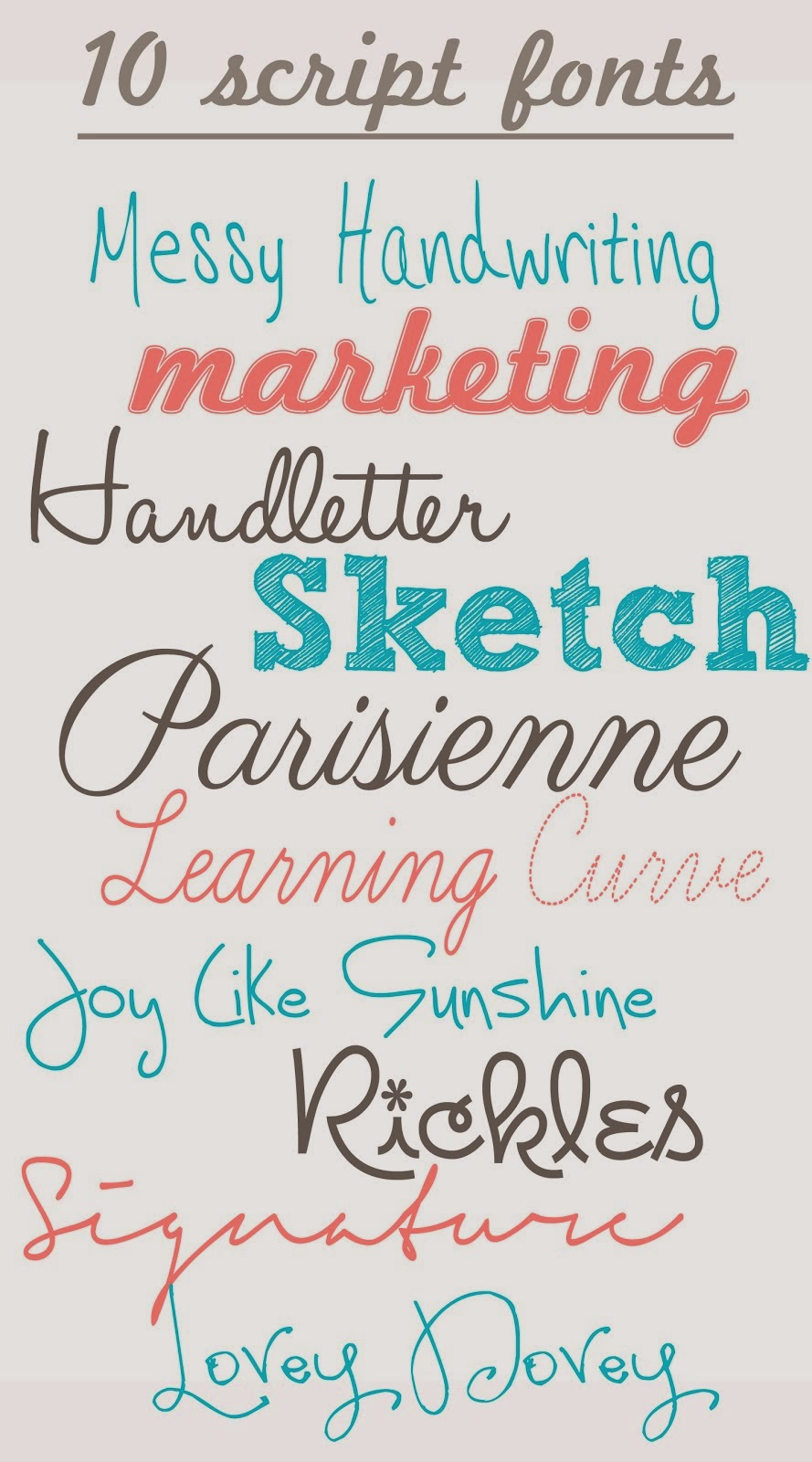 Pretty Handwriting Fonts Hand Writing