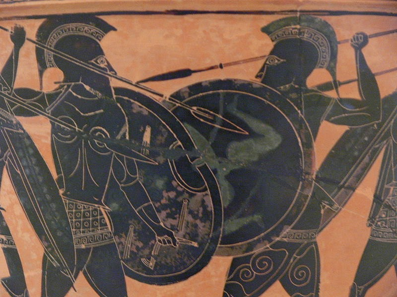 Hoplite-fight-from-Athens-Archaeological