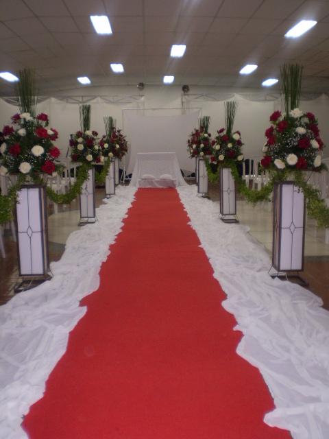 Decoração Com Voal ~ decoraç u00e3o de igreja corredor da noiva Buffet mó legal