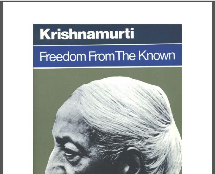 Freedom From The Known Krishnamurti Pdf