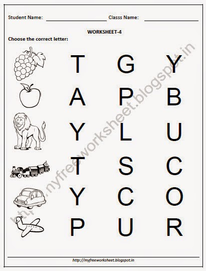 kindergarten english worksheets free download degree reading - Worksheet For Nursery