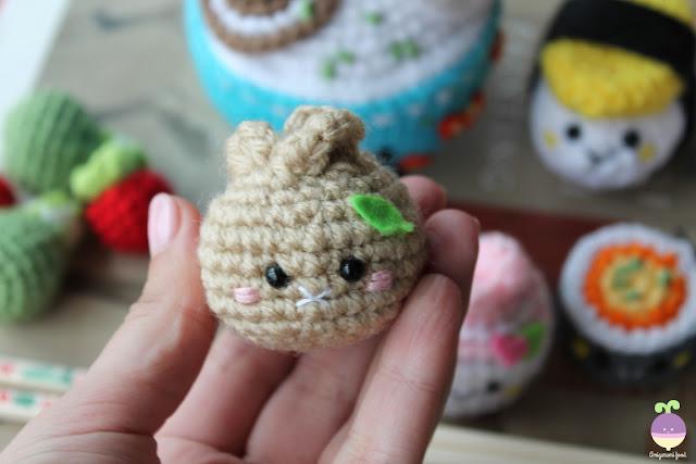 Amigurumi Food: New Crochet Pattern! Bento Family / Sushi set
