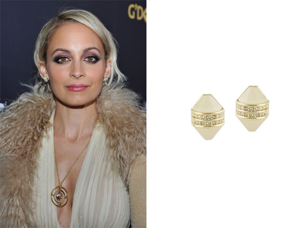 Nicole Accessorized Her Boho Chic Outfit With House Of Harlow 1960 Jewelry The Corona Stud Earrings