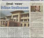 Fearism in Sikkim University