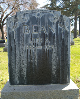 Leon Samuel Bean born 1862 Redwood City California died 1928 San Jose California
