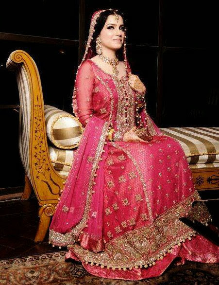 New Stylish Bridal Wear Winter Dresses Collection 2013-2014 For Girls & Women