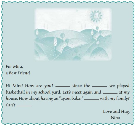 Pay attention to the following greeting card and complete it. Fill in