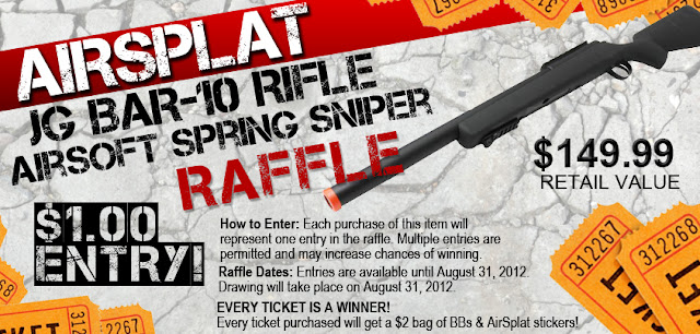 BAR 10+RIFLE+RAFFLE AirSplat Airsoft Spring Rifle Raffle! $1.00 Entry!!