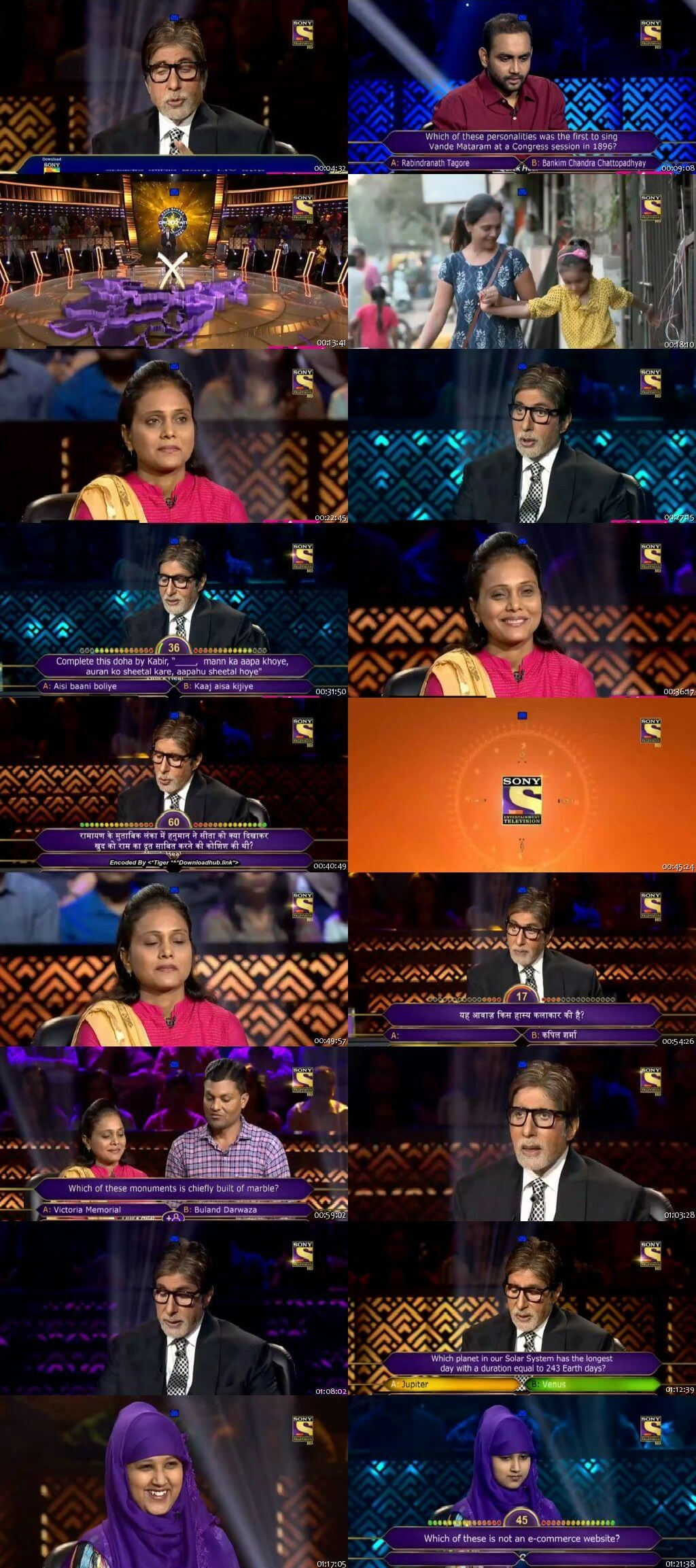 Screenshots Of Hindi Show Kaun Banega Crorepati Season 10 2018 21st November 300MB 480P HD